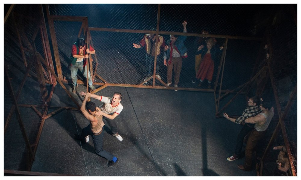 fighting scene in west side story musical on stage